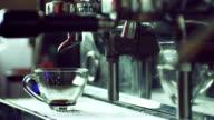 Blast of steam on coffee machine