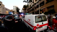 A blast rocked a hotel in Lebanese capital Beirut on June 25 2014 as security forces raided the hotel in search of a wanted person Footage by Ratib...
