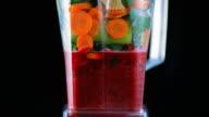 SLO MO Blender blending a vegetable smoothie