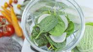 SLO MO LD blenderkan gevuld met spinazie en radijs