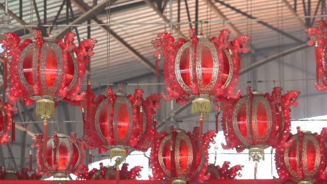 Chinese lamp knipperen