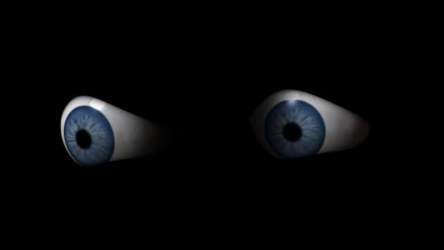 blinking eyes in the dark