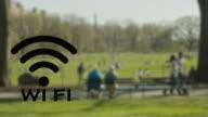 Blinzeln W-LAN-hotspot kabelloses Technologie im park