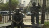 Bloack Shot Statue at Baywalk Manila Philippines