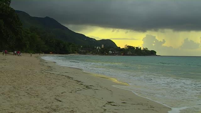 Block Shot Beach Mahe Victoria Seychelles