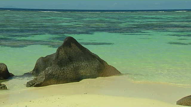 Block Shot Beach Rock Praslin Seychelles