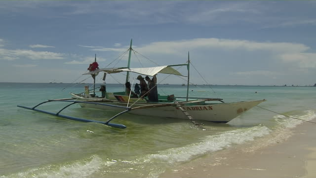 Block Shot Boat Boracay Aklan Philippines