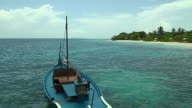 Block Shot Boat in Beach Male Maldives