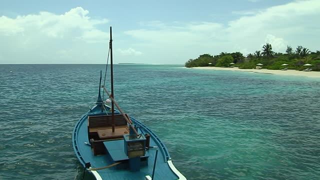 Block Shot Boat in Beach Male Maldives