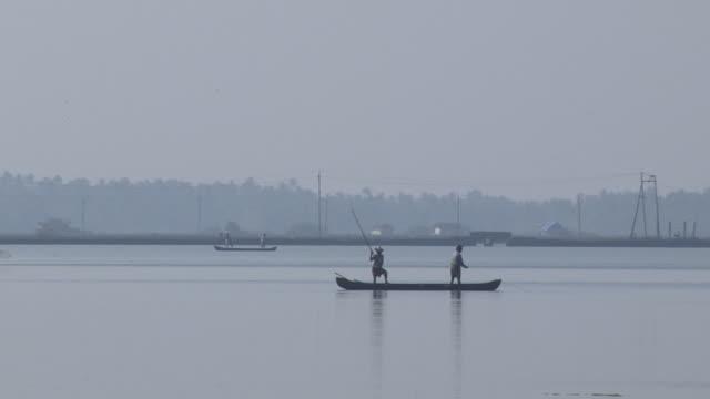 Block Shot Fisherman Backwaters Cochin Kerala India