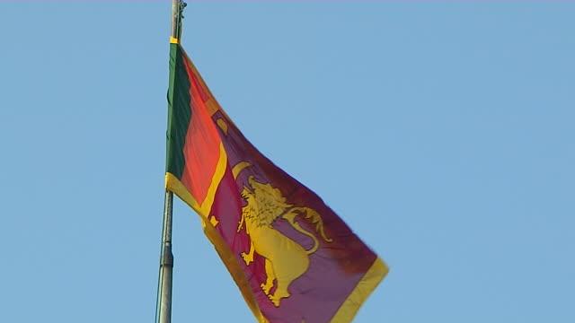 Block Shot Flag Colombo Western Province Sri Lanka