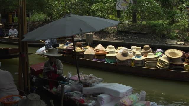 Block Shot Floating Market Bangkok Thailand