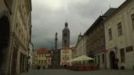 Block shot Kutna hora city Czech Republic