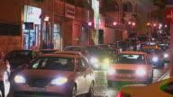 Block Shot Night Road Traffic Amman Governorate Jordan