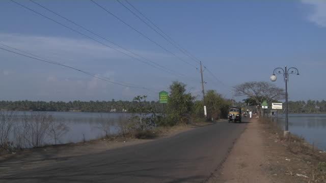 Block Shot Road Backwaters Cochin Kerala India
