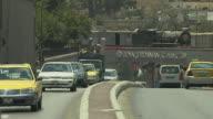 Block Shot Road Traffic Amman Governorate Jordan