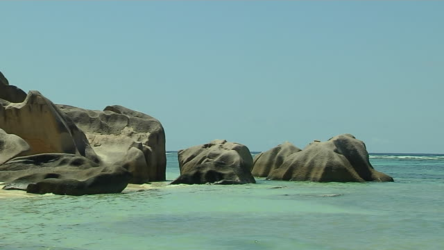 Block Shot Rocks Beach Praslin Victoria Mahe Seychelles