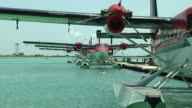 Block shot sea plane Male Maldives