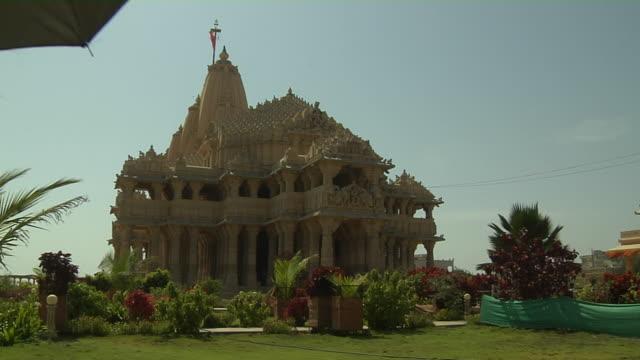Block shot somnath temple exterior veraval gujarat