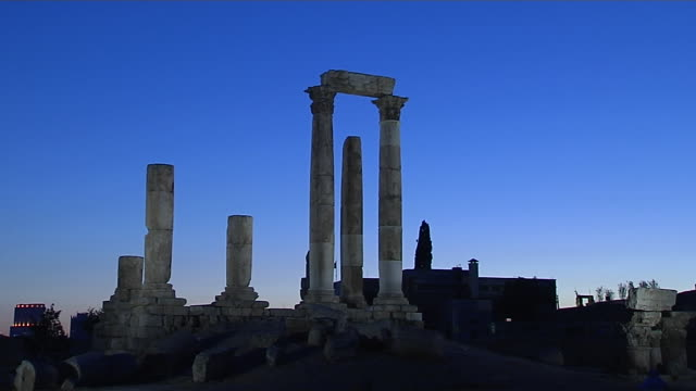 Block Shot Temple of Hercules Amman Governorate Jordan