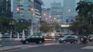 Block Shot Traffic Jakarta Indonesia