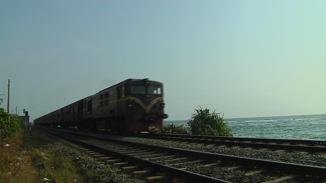 Block Shot Train Passing Colombo Western Province Sri Lanka