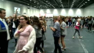 Blogger Alfie Deyes book signing ***PARTLY General views of fans in queue / vox pops SOT