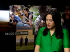 'Blood Diamond' film actor interviews ENGLAND London INT Jennifer Connelly interview SOT It was both the character and the issue that made me want to...