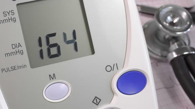 Blood pressure measurement with a digital blood pressure monitor
