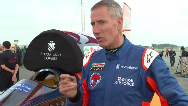 Bloodhound supersonic car attempts to break land speed record EXT Green interview continues SOT