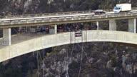 Bloukrans Bridge Bungee  / Natures Valley SA / shot-4: person jumps - close static shot