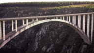 Bloukrans Bridge Bungee  / Natures Valley SA / shot-5: person jumps - 60FPS high-speed