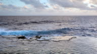 Blowholes at sunset