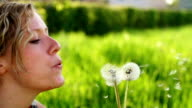 SLOW MOTION: Blowing a Dandelion