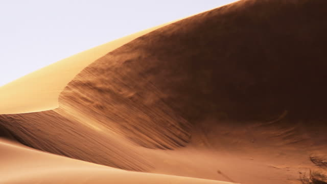 Blowing sand dune