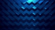 Blue abstract geometric background. Seamless Loop.