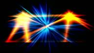 Blau und orange Lasershow Hintergrund