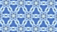 blue and white kaleidoscope