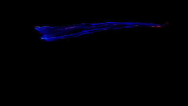 HD: Blue animated ribbon with alpha