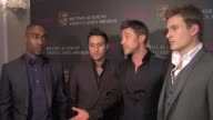 Blue Anthony Costa Simon Webbe Duncan James and Lee Ryan on Eurovision on the winners on graphics on game budgets at the GAME British Academy Video...