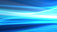 Blue background animation of flowing streaks of light