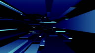 Blue Blocks Tunnel Loop/abstrakte futuristisch Animation