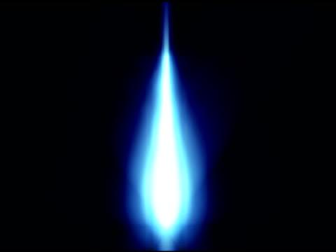 Blue Kochfeld Flammen