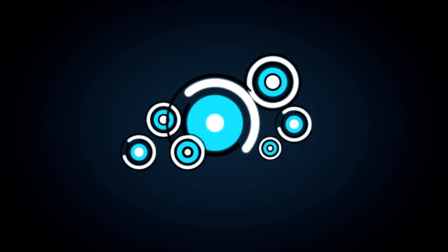 Blue Circle Spins (Loopable) - Stock video
