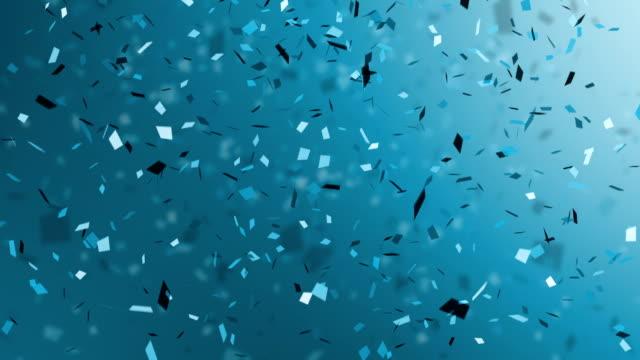 Cadere coriandoli blu