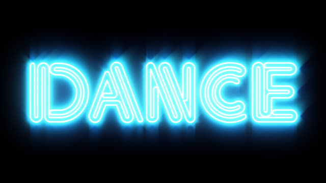 Blue Dance Neon Sign Stock Footage Video Getty Images