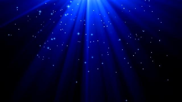 Blue Deep Sonnenstrahlen mit Sternen