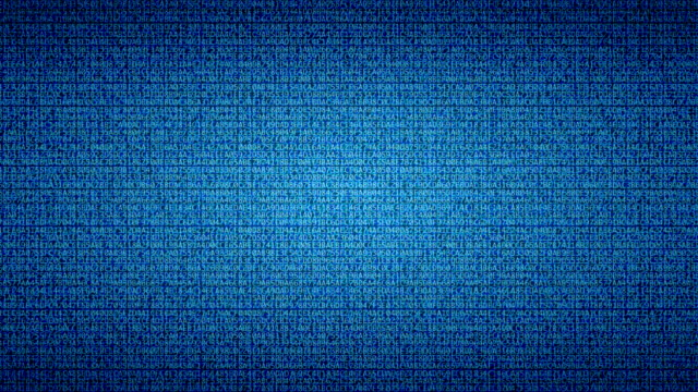 Blue Digital Data Background. (Loopable)
