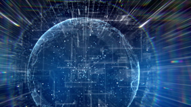 Blauen digitalen Planeten Daten