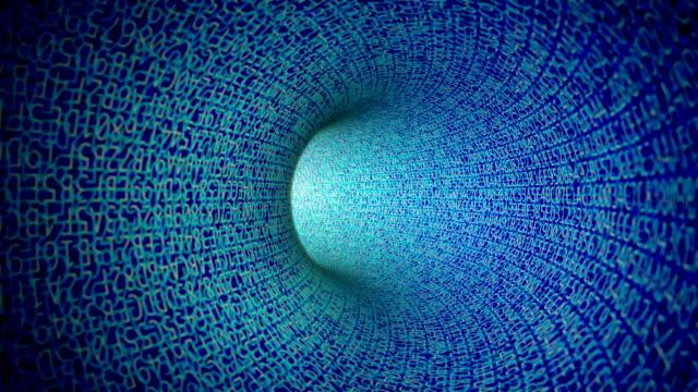 Blue Digital Tunnel (Loopable)
